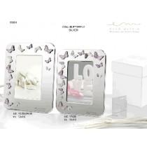 Bomboniera portafoto farfalle strass con confetti e bigliettino