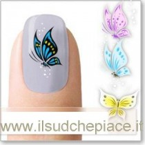 """STICKERS NAIL ART UNGHIE """"FARFALLE COLORATE"""""""