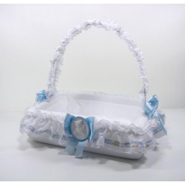 Cesto porta bomboniere con orsetto blu - Cesti porta bomboniere matrimonio ...