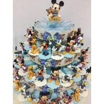 Torta bomboniera personaggi Disney cm.10 con confetti e bigliettino