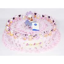 Torta bomboniera Disney 32 fette con confetti e bigliettino