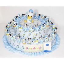 Torta bomboniera 54 fette Disney con confetti e bigliettino