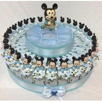 Torta bomboniera Disney Topolino con confetti e bigliettino