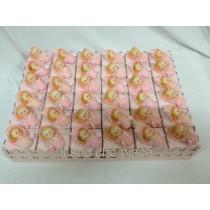 Cesto 36 bomboniere baby rosa completa di confetti e bigliettino
