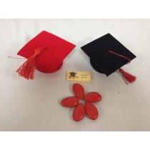 Tocco laurea con confetti e bigliettino