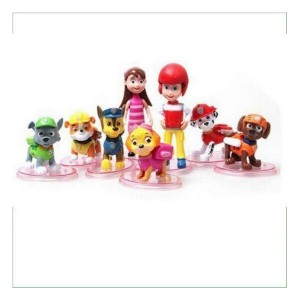 8 personaggi Paw Patrol 6-8 cm.