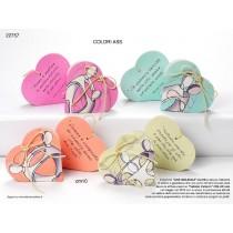 Portaconfetti cuore con frasi con confetti e bigliettino