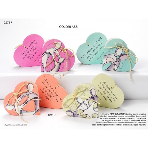 Extrêmement Portaconfetti cuore con frasi con confetti e bigliettino  QX23