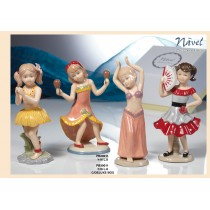 Danzatrici in porcellana Navel con confetti e bigliettino