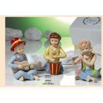 Musicisti in porcellana Navel con confetti e bigliettino