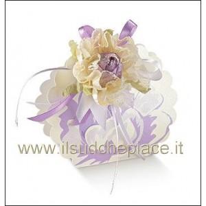 10 portaconfetti borsa lilla