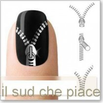 "STICKERS NAIL ART UNGHIE ""LAMPO ARGENTATE"""
