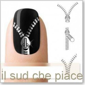 """STICKERS NAIL ART UNGHIE """"LAMPO ARGENTATE"""""""
