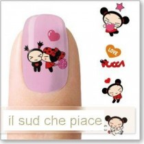 "STICKERS NAIL ART UNGHIE ""I LOVE PUCCA"""