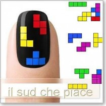 "STICKERS NAIL ART UNGHIE ""TETRIS"""