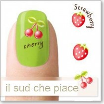 "STICKERS NAIL ART UNGHIE ""FRAGOLE E CILIEGIE"""
