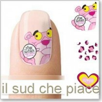"STICKERS NAIL ART UNGHIE ""PANTERA ROSA"""
