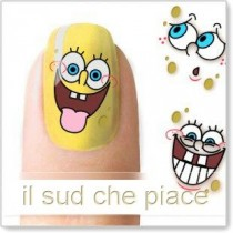 "STICKERS NAIL ART UNGHIE ""SPONGEBOB"""