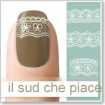"STICKERS NAIL ART UNGHIE ""PIZZO BIANCO"""