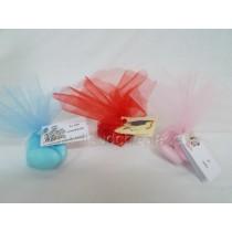 Confettura con 5 confetti in tulle e bigliettino personalizzato
