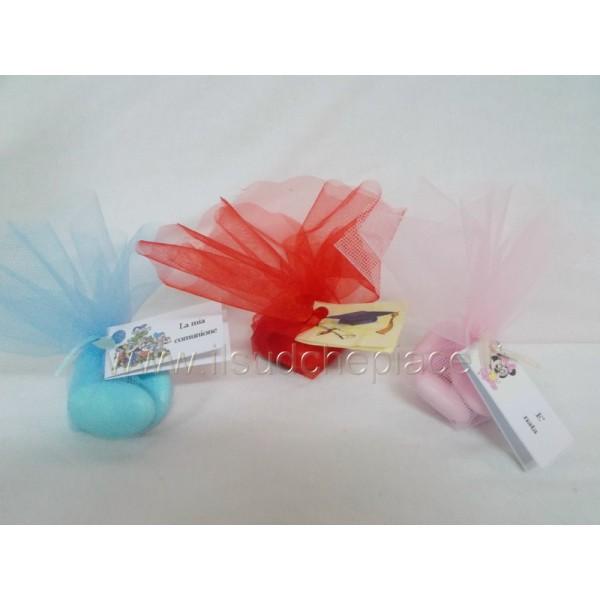 Favorito Confettura con 5 confetti in tulle e bigliettino personalizzato  SE64