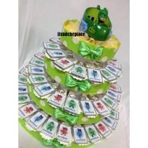 Torta bomboniera portachiavi pj masks con confetti e bigliettino