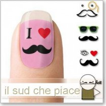 "STICKERS NAIL ART UNGHIE ""I LOVE BAFFETTI"""