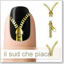 "STICKERS NAIL ART UNGHIE ""LAMPO DORATE"""
