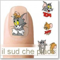 "STICKERS NAIL ART UNGHIE ""TOM E GERRY"""
